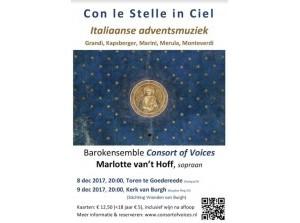 Consort of Voices brengt Italiaanse barokmuziek in Goedereede