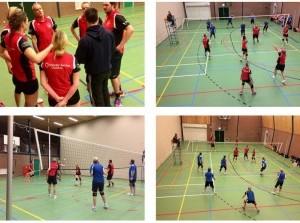 Kriekel volleybalmixteam begint goed in het nieuwe jaar
